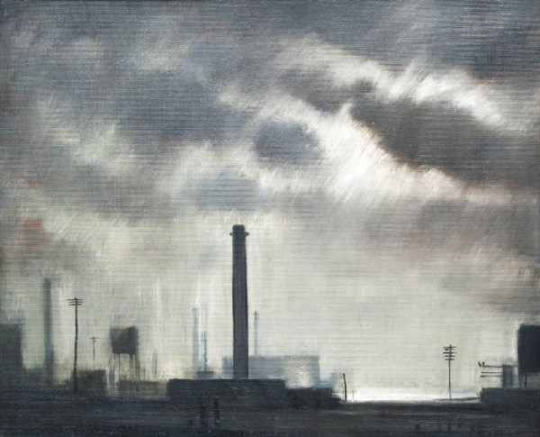 industrial landscape with chimney
