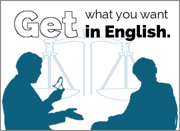 Get What You Want in English