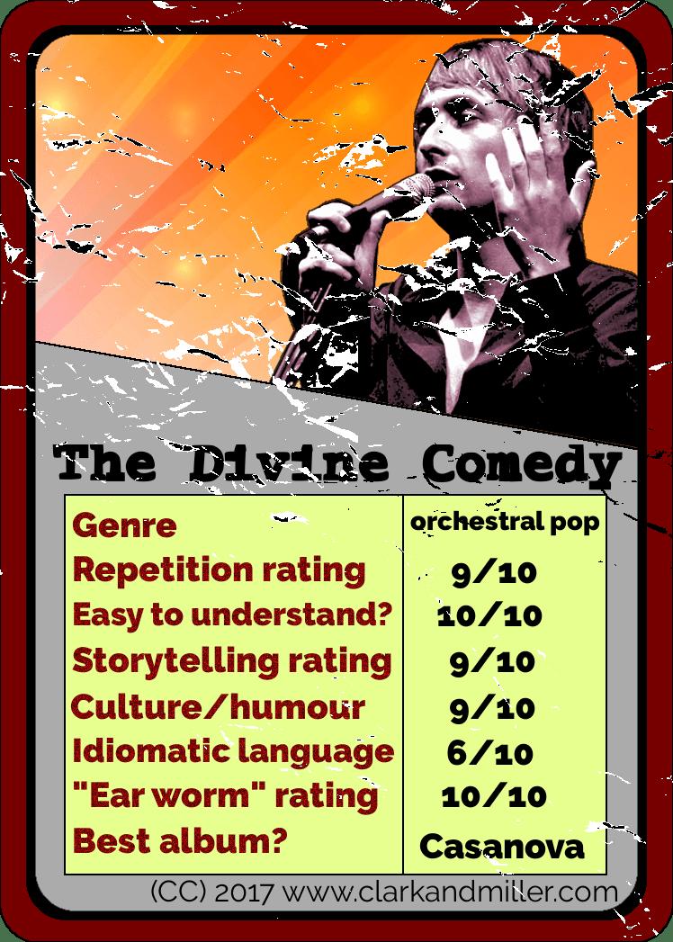 Divine Comedy Top Trumps Card