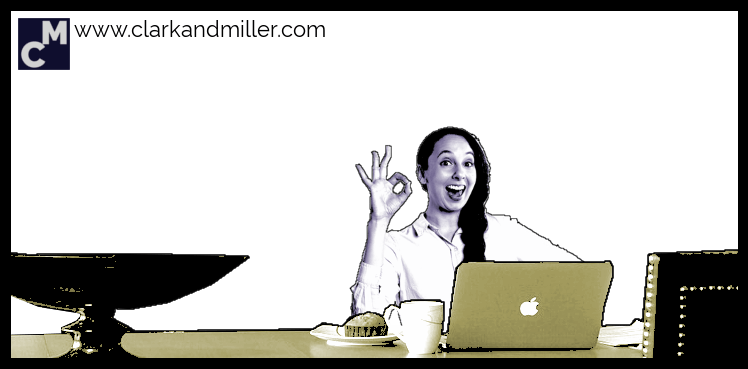 Smiling woman with computer