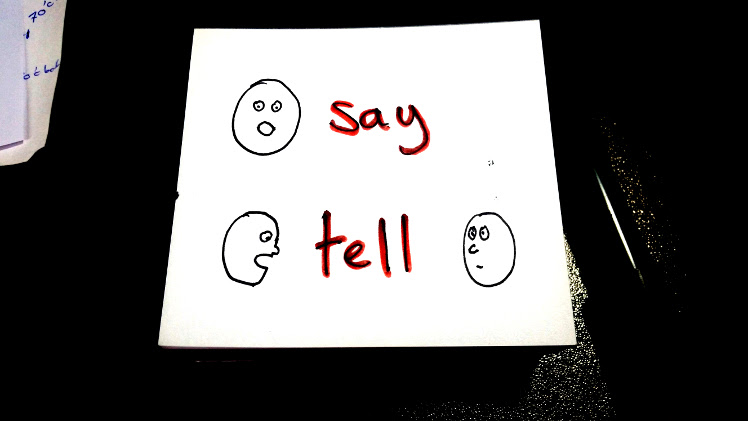 English Rules - say or tell