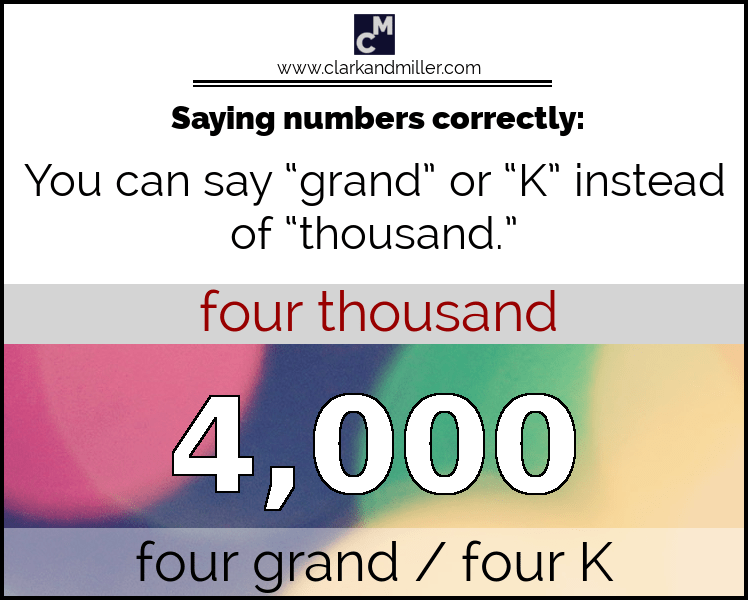 Grand, K and Thousand