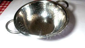 Kitchen vocabulary: Colander