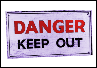 Phrases with keep: keep out