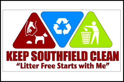 Phrases with keep: keep Southfield clean