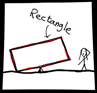 Shapes in English: rectangle