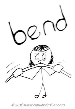 Verbs of movement: bend