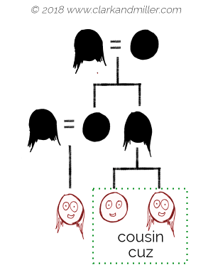 Family tree with cousin