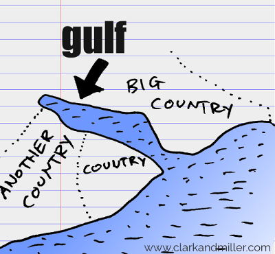 gulf drawing with text