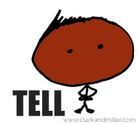 """Stick figure with """"tell"""""""