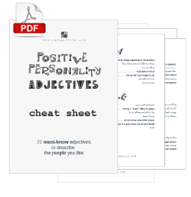 Positive Personality Adjectives Cheat Sheet Image