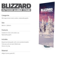 Blizzard OUtdoor Banner Stand