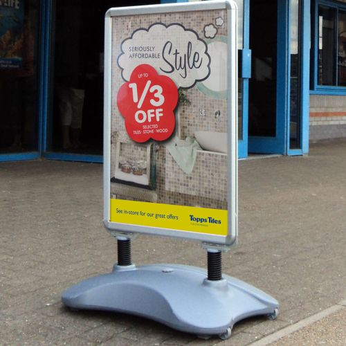 WaterBased Pavement Poster Holder