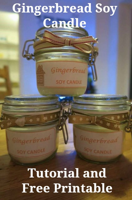 Gingerbread Soy Candle Tutorial and Free Printable