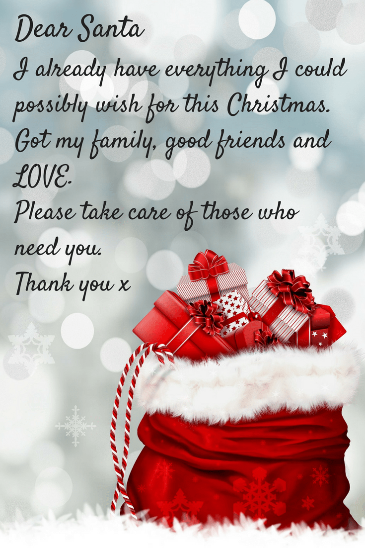 Thinking of others at Christmas quote