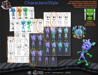 Alien Character Concepts 2, ASU (Embodied Games for Learning)