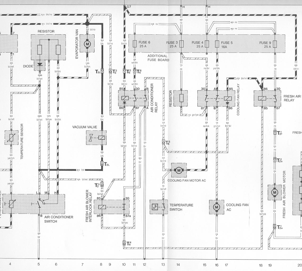 hight resolution of for a diagram of the early cooling fan circuit with air conditioning click here