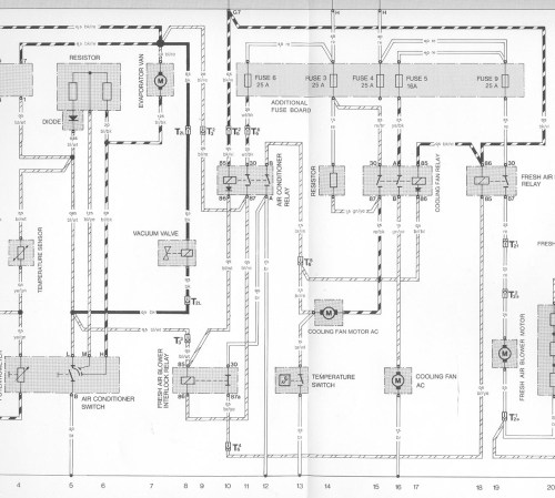 small resolution of for a diagram of the early cooling fan circuit with air conditioning click here
