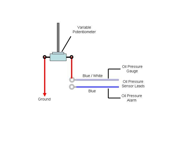 wiring diagram for saas oil pressure gauge