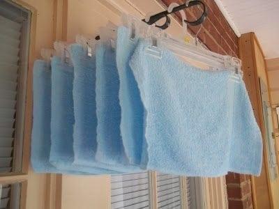 Homemade Resusable Fabric Softeners
