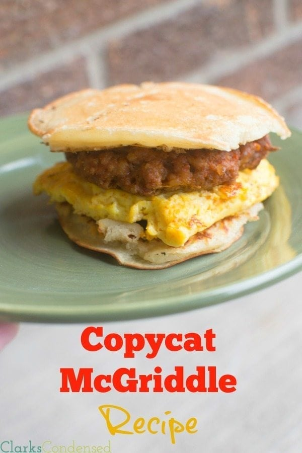 I've always been a fan of the McDonald's McGriddle recipe -- I'm so excited I can make them at home now. The addition of maple sugar crystals is KEY!
