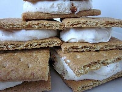 Frozen Butterfinger Creme Sandwiches