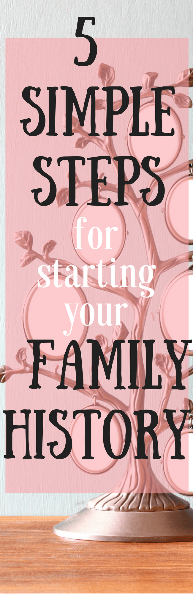 5 Simples steps for starting your family history - doing your Geneology research can really open up the doors of your ancestry. Here are a few tools for helping you get your family trees ready to go! via @clarkscondensed