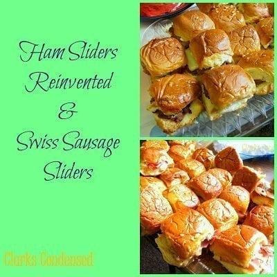 Ham Sliders and Swiss Sausage Sliders