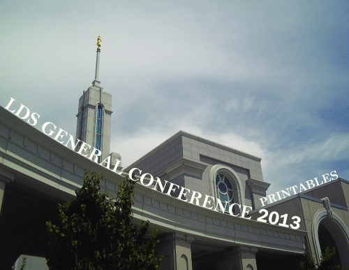 2013 LDS General Conference Printables