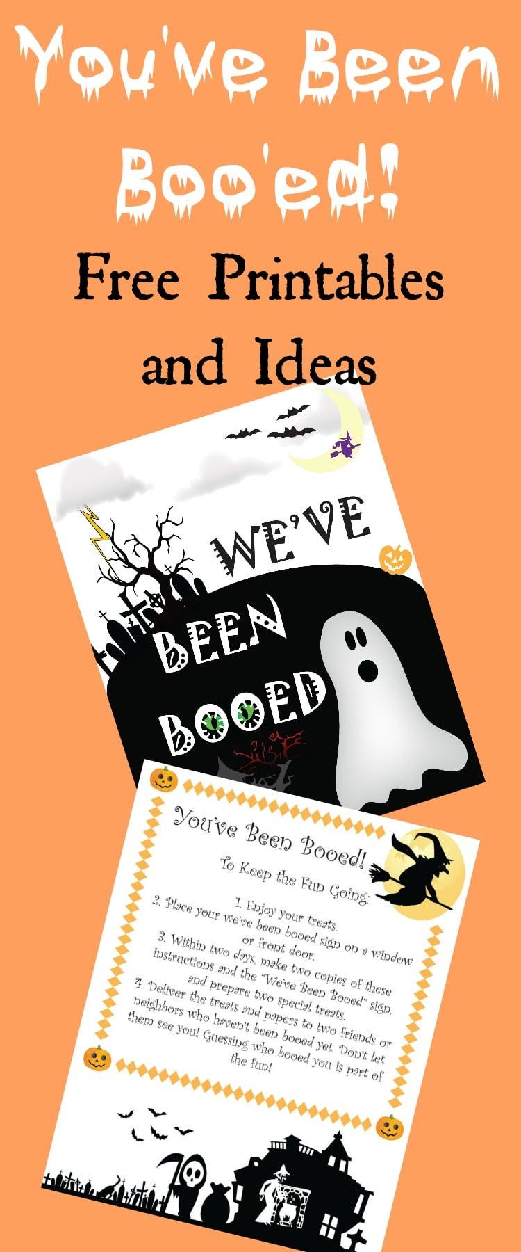 You've Been Boo'ed Printable / You've Been Boo'ed Ideas / You've Been Boo'ed Free Printable / Halloween Ideas