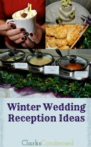 Winter Wedding Reception Ideas by Clarks Condensed