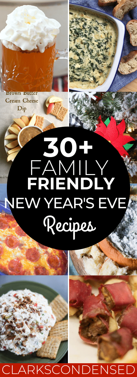 Over 30 delicious New Year's Eve recipes that are perfect for all ages - including amazing non-alcoholic drink recipes! via @clarkscondensed