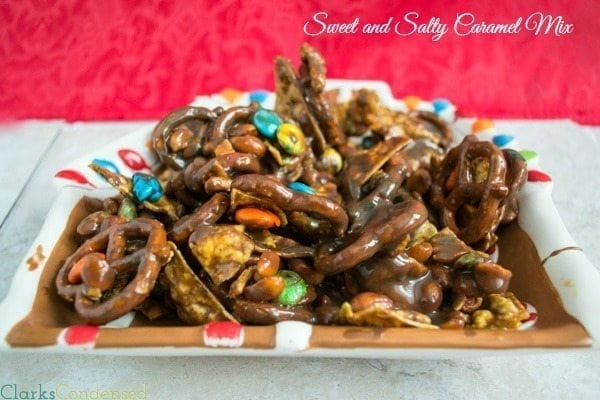 Sweet and Salty Chocolate Caramel Snack mix
