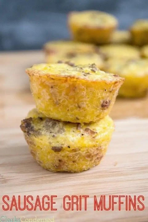 Sausage and Bacon Grits Muffins by Clarks Condensed
