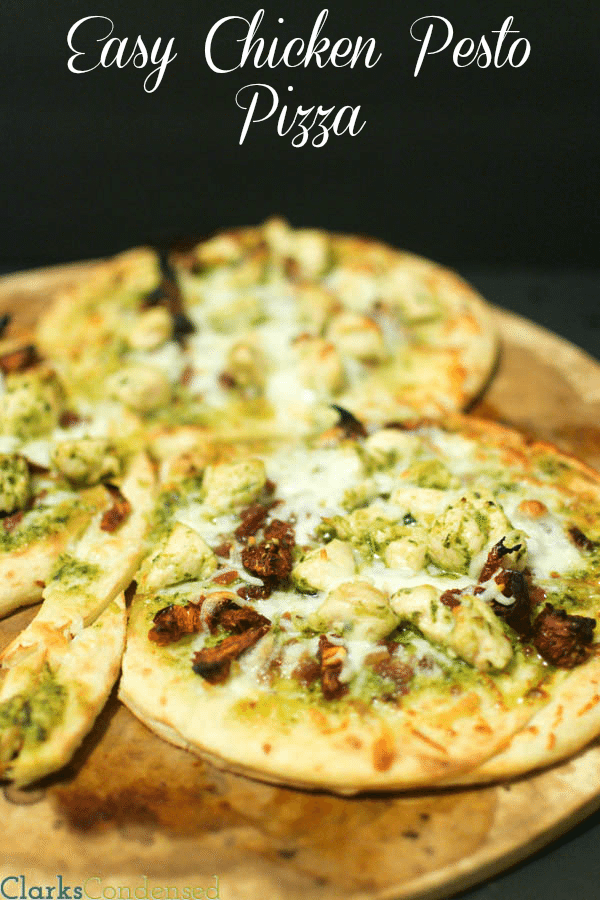 Easy Chicken Pesto Pizza by Clarks Condensed