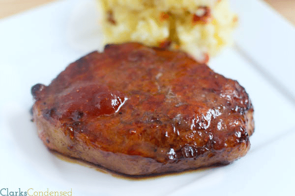 Chipotle Strawberry Glazed Pork Chops
