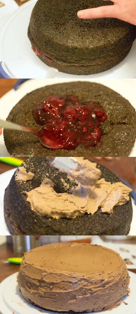 Amazing Chocolate Raspberry Cake and Frosting Recipe