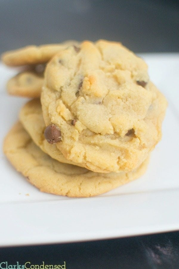 This recipe is my FAVORITE chocolate chip cookie recipe -- the cookies have a unique flavor, combined with delicious, milk chocolate. They definitely won't last long after you make them!