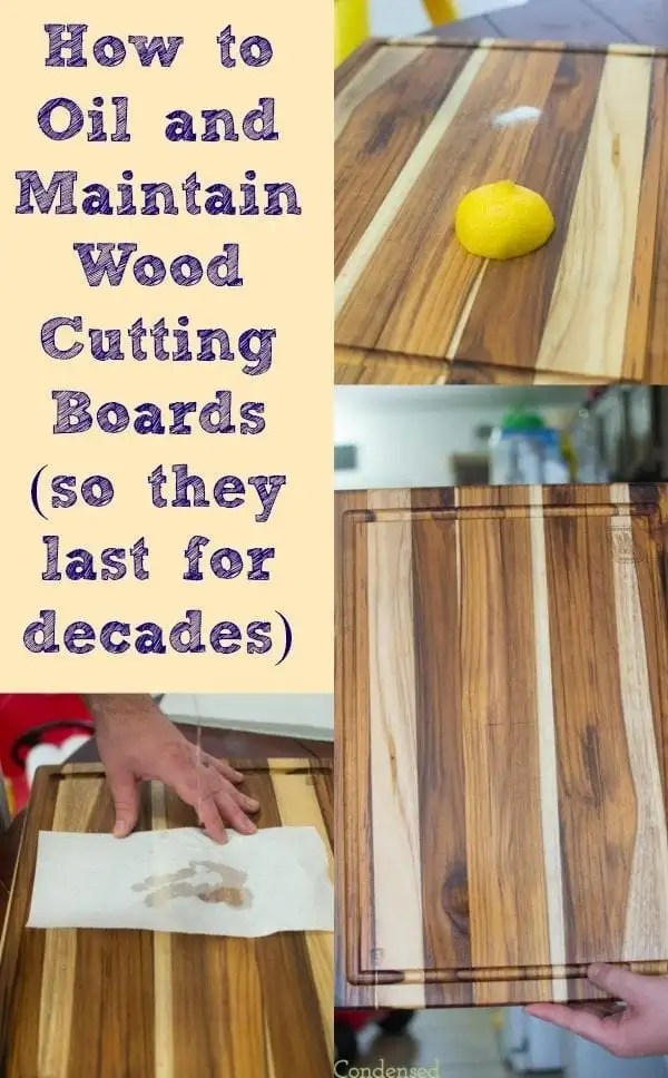 How to oil and maintain wood cutting boards