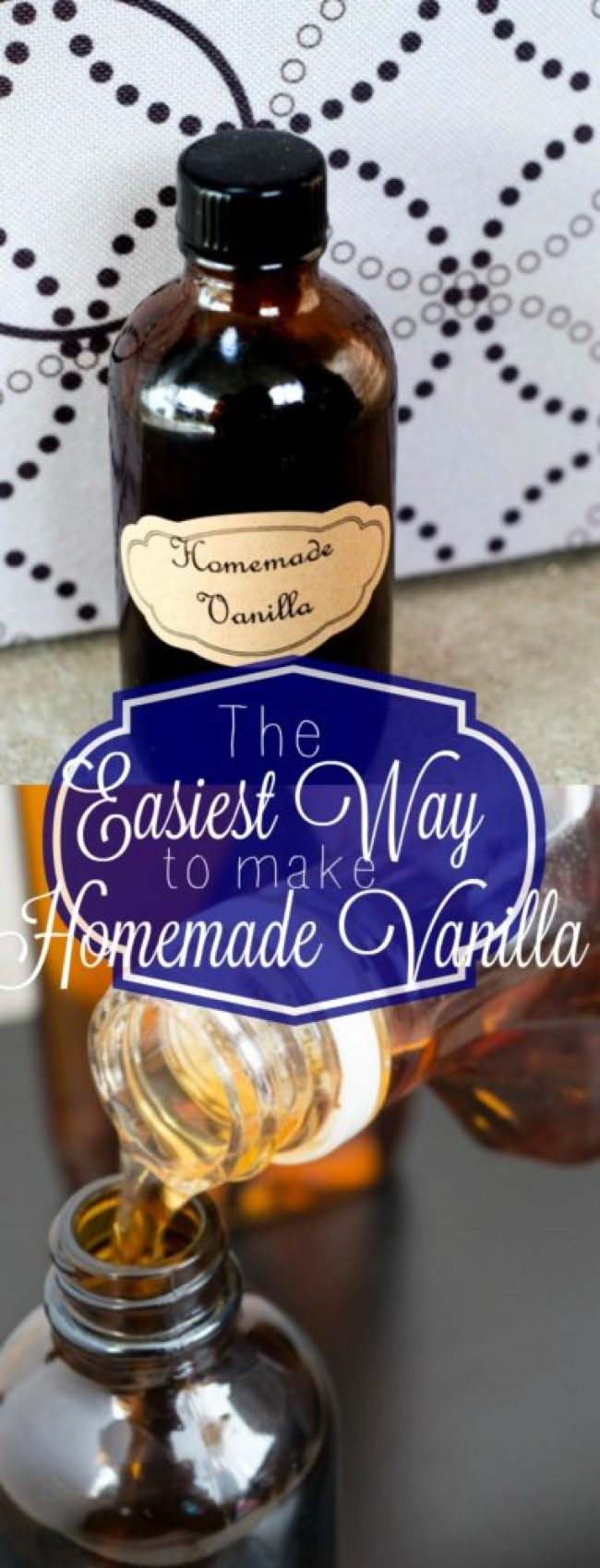 Once you make homemade vanilla, you can't go back. Here is the simplest way to make homemade vanilla!