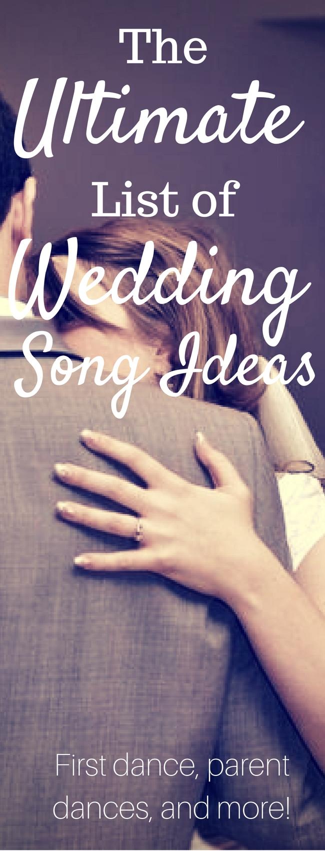 Wedding Song Ideas / Wedding Playlist / First Dance Ideas / First Dance Songs / Mother Son Dance / Father Daughter Dance / Love Songs