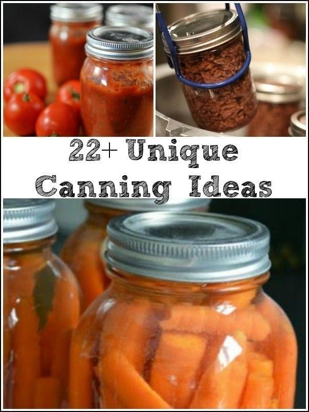 22+ Unique Canning Ideas via ClarksCondensed.com