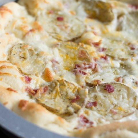 Deep Dish Bacon and Potato Pizza