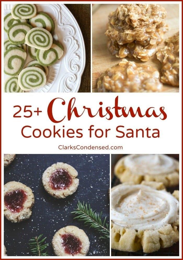 25+ Christmas Cookies for Santa via ClarksCondensed.com