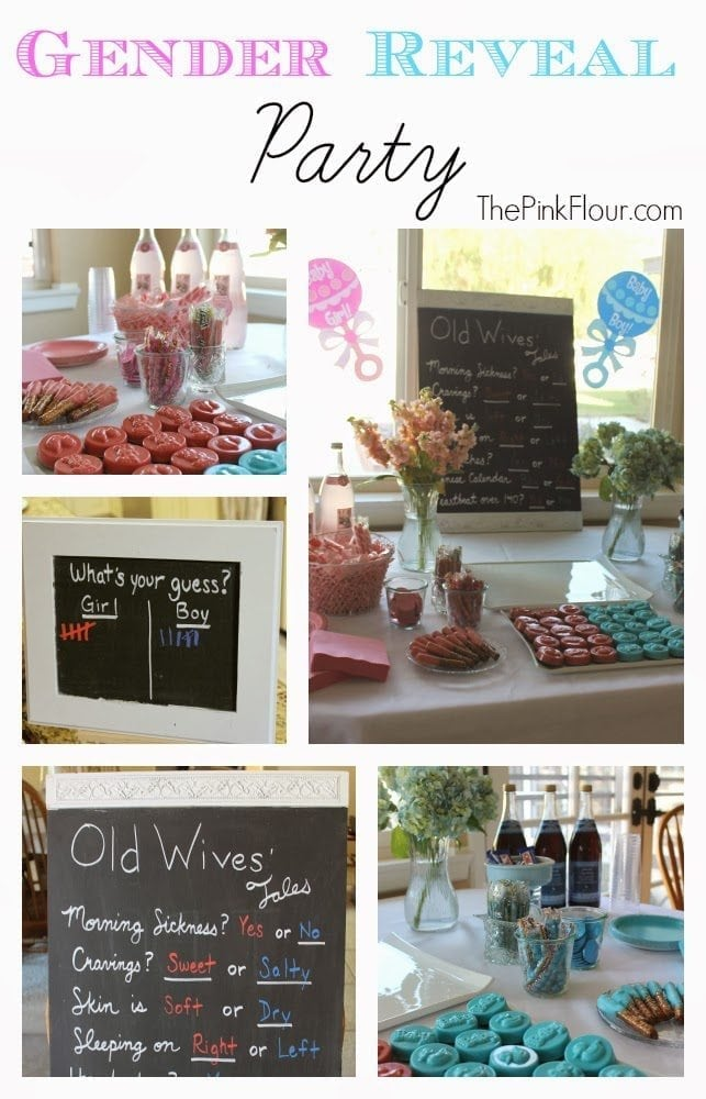 Gender Reveal Party - simple ideas for an easy party from www.thepinkflour.com