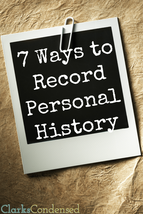 Knowing and sharing your family history is important and fun. Make sure you leave behind a personal history for your posterity - here are a few ways to record personal history. There's something for everyone!
