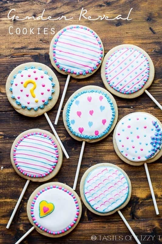 cookies for a baby gender reveal