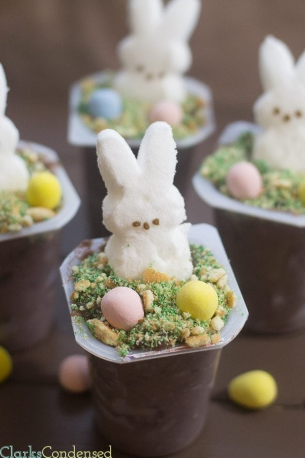 This is a great Easter dessert recipe - easy pudding cups!