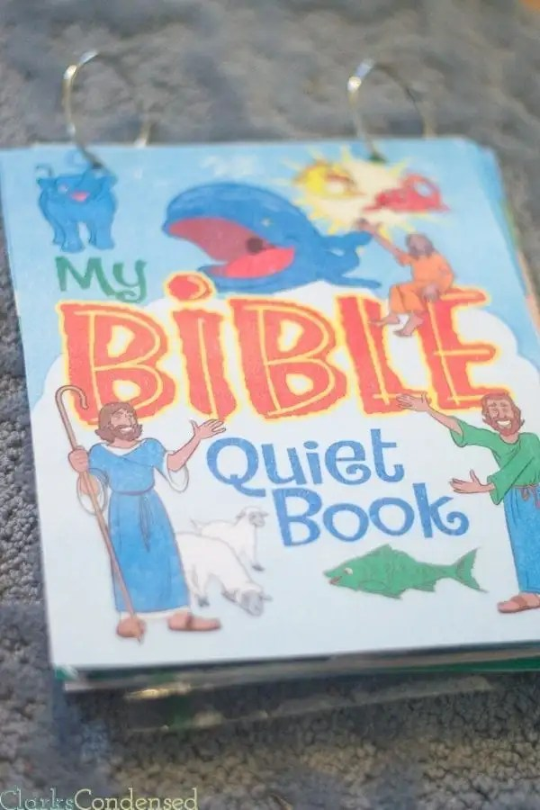 My son absolutely LOVES this Bible Quiet Book. It's super simple to put together and great for young children.