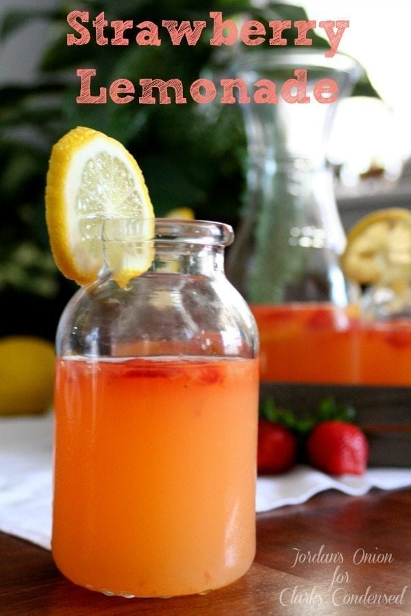 A refreshing homemade strawberry lemonade recipe - this is the perfect summer drink!
